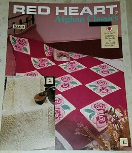NOV062-COATS-amp-CLARK-1989-RED-HEART-AFGHAN-CLASSICS-6-DESIGNS-TO-KNIT-amp-CROCHET