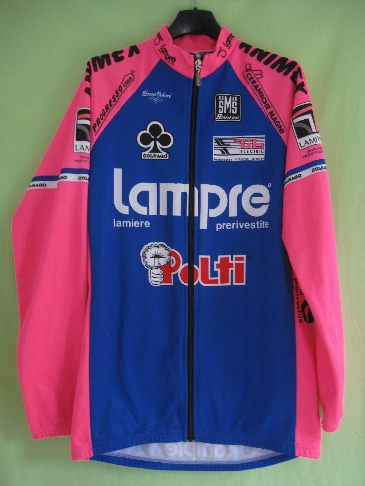 Maillot cycliste Lampre Polti Colnago Rover 1993 Jersey cycling Vintage  XXL