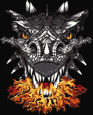 Fantasy//Dragons Dragons Flame Counted Cross Stitch Kit