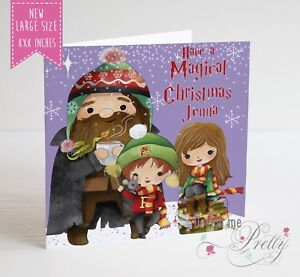image is loading large personalised harry potter christmas card daughter son