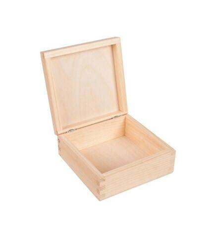 Aufbewahrungsbox praktische Holzkiste mit Deckel Box Holzbox 15x15