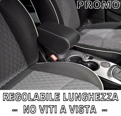Bracciolo per FIAT 500X REGOLABILE nero CUCITURE BIANCHE Venditore professionale