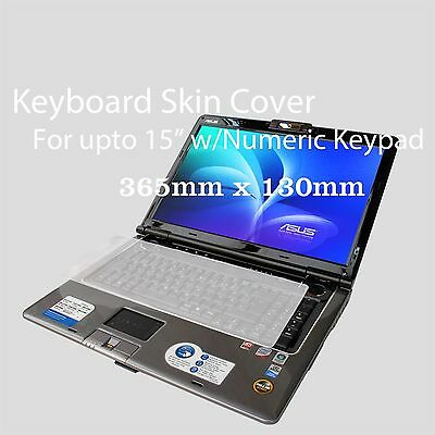 """Silicone Universal Keyboard Skin Cover For Notebook Sony Acer Asus 15"""" w/keypad"""
