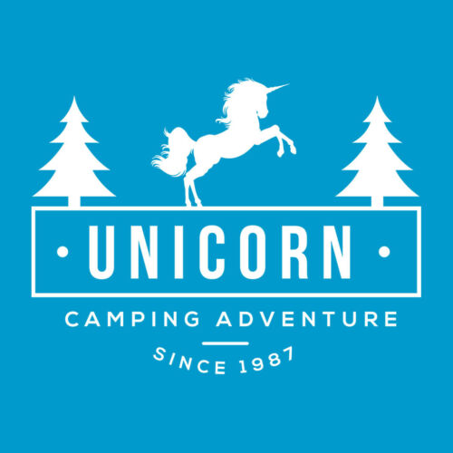 Adventure blu Unicorn Summer Camp da Felpa Camping donna gIx61qR