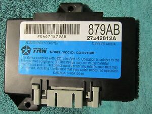 Image Is Loading Ships Same Day Chrysler 04671879ab Remote Keyless Entry
