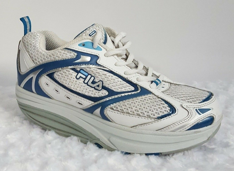 FILA Women's Size 7 Fit Sport Walk-n-Sculpt Toning Sneakers bluee White