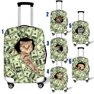 FOLPPLY Cute Cartoon Animal Tiger Floral Pattern Luggage Cover Baggage Suitcase Travel Protector Fit for 18-32 Inch