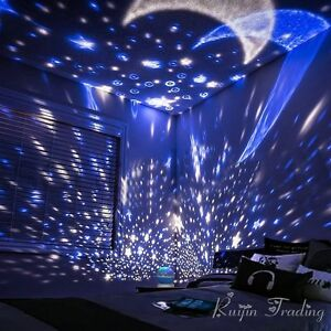 Image Is Loading 360 Rotation Star Starry Kid Room Night Light