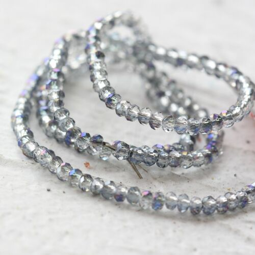 One Strand Small Crystal Beads Faceted Rondelle 2.5x1.5mm G3#24