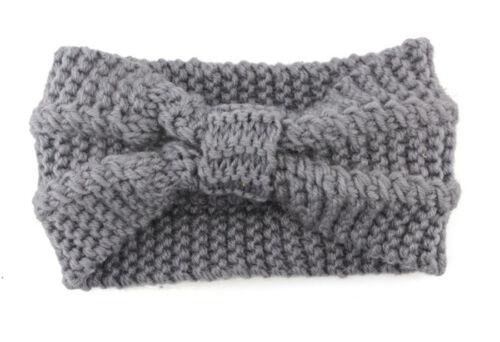 Women Ladies Winter Cross Crochet Knitted Wool Headband Hairband Earmuffs