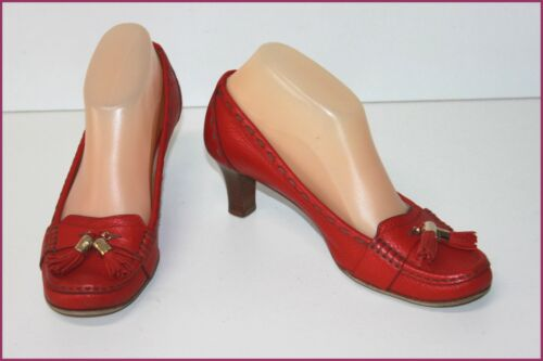 Grained All Flirt Pumps 36 T Red Lancel Tbe Leather wTxpII