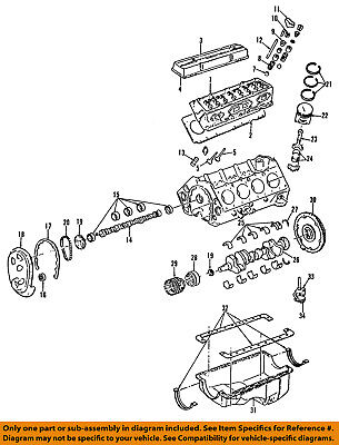 1991 pontiac 3 1 engine diagram gm oem engine crankshaft crank seal 14090906 ebay  gm oem engine crankshaft crank seal