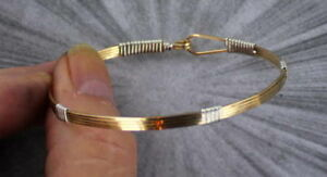 Bracelet-in-14kt-Rolled-Gold-and-Sterling-Silver-in-Size-6-to-9-Wire-Wrapped