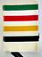 Hudson Bay Company blanket Polar Fleece Throw Multi HBC Stripes classic 70x50