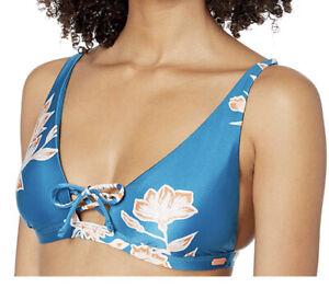 Roxy-Womens-Riding-Moon-Elongated-Triangle-Bikini-Top-Mykonos-Blue-Swim-top