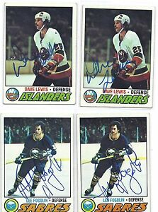 1977-78 Topps #94 Lee Fogolin Buffalo Sabres Autographed Hockey Card