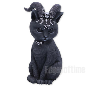 PAWZUPH-HORNED-OCCULT-CAT-FIGURINE-ORNAMENT-WITCH-MAGIC-SPELL-PAGAN-GOTHIC-11CM
