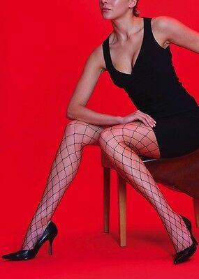 Silky Scarlet Whale Net Tights Wide, Oversized, Black Fishnet Pantyhose