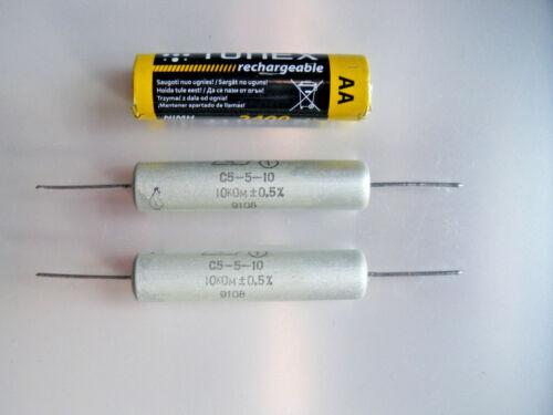 Resistencias S5-5-10 vatios 10K