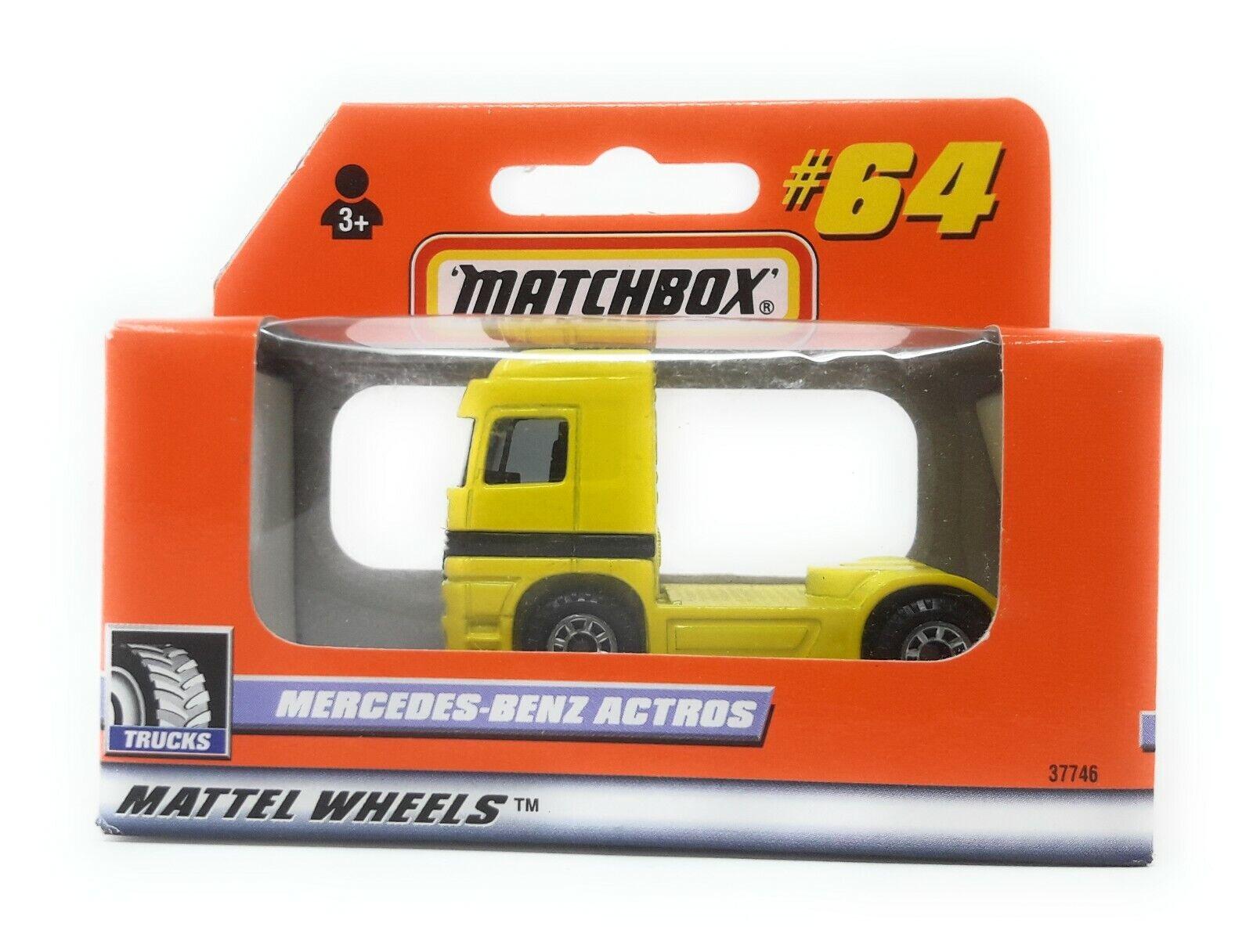 Matchbox MBX SUPERFAST 1999 nº 64 Mercedes Actros Jaune Allehommed  Exclusiv Modèle  détaillants en ligne