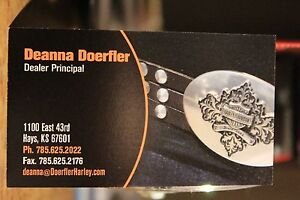 Doeflers Hays Kansas Motorcycles Business Card Harley Davidson