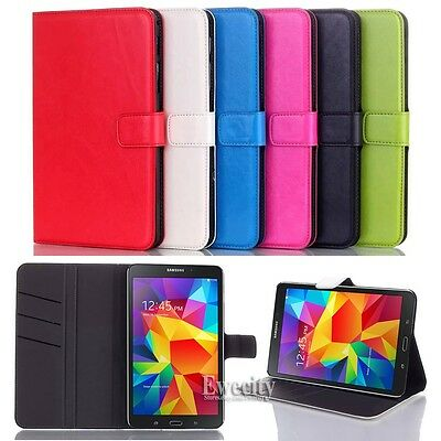 Folio Wallet Leather Stand Set Case Cover For Samsung Galaxy Tab 4 8.0 SM T330