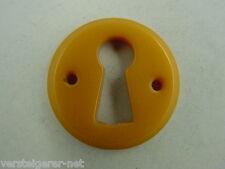 Schlüssellochblende ,Schlüssellochschild,30er Jahre,Kunststoff, karamell