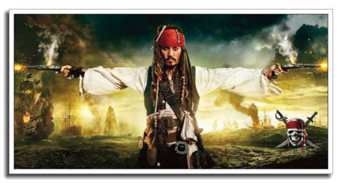 """Pirates of the Caribbean 24/""""x12/"""" Johnny Depp Silk Big Banner Movie Poster"""