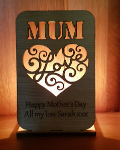 PERSONALISED-TEA-LIGHT-CANDLE-HOLDER-MOTHERS-DAY-GIFT-MUM-MUMMY-OAK-LOVE-HEART