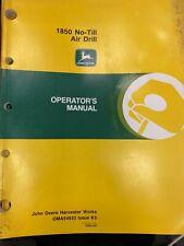 John Deere Owners Manual 1850 No Till Air Drill Oma54933