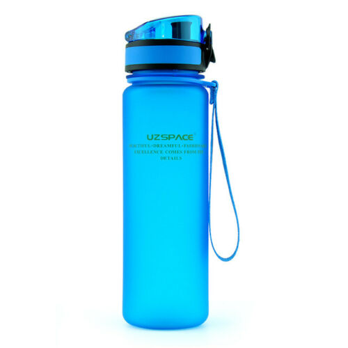 Uzspace Portable Tritan Sport Water Bottle BPA Free For Camping Hiking 500ml