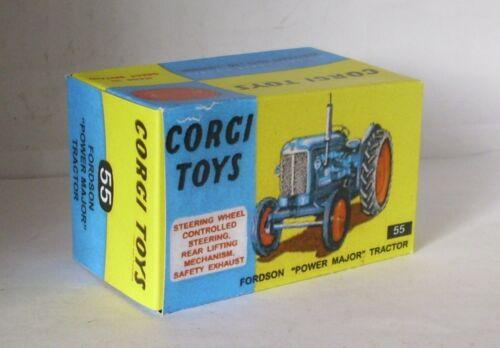 Repro box Corgi nº 55 Fordson Power major tractor