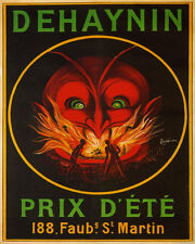 POSTER DEHAYNIN RED DEVIL MOUTH OF FIRE SUMMER PRICE BURN VINTAGE REPRO FREE S//H