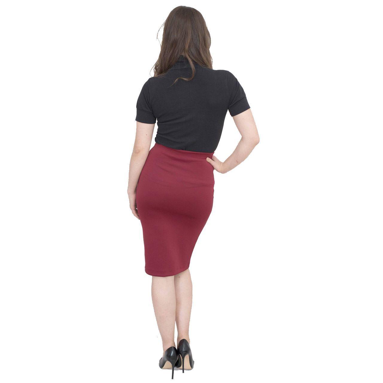 Jolie Max Women Pencil Skirt Midi Stretch Bodycon Skirt 8-20 Casual Officewear