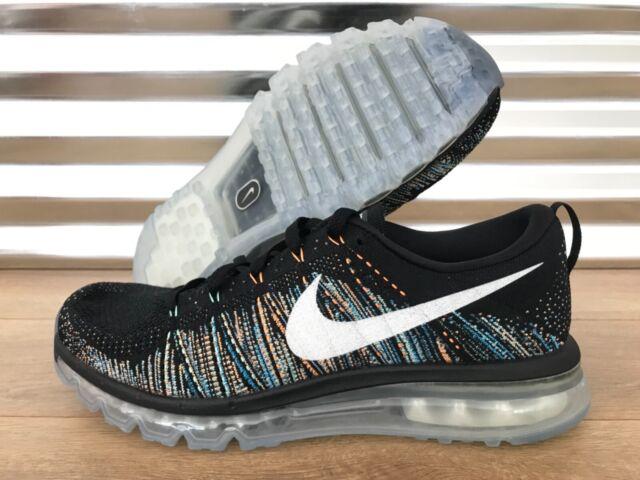 Nike Flyknit Max Black Orange Men Running Shoes SNEAKERS 360 Trainers 620469 015 8