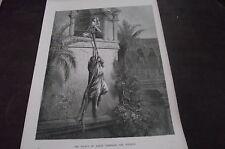 DORE Galleria incisione dal 1870s: la fuga di David attraverso la finestra
