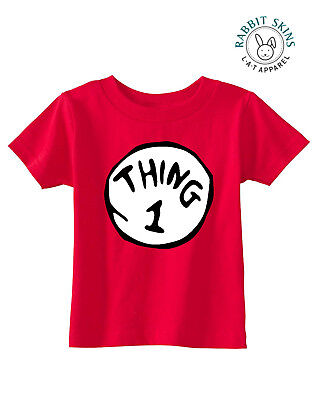 Infant/'s and Toddler/'s Thing 1 and Thing 2 Rabbit Skins Cotton Jersey T-Shirts