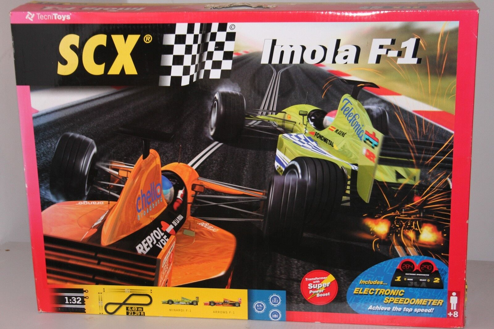 Scx 80460 Imola F-1 Slot Car Set