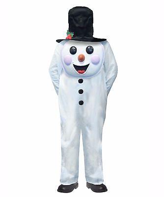 Ragionevole Children's Pupazzo Di Neve Natale Natività Jumbo Face Costume Età 4 - 12-mostra Il Titolo Originale Materiali Accuratamente Selezionati