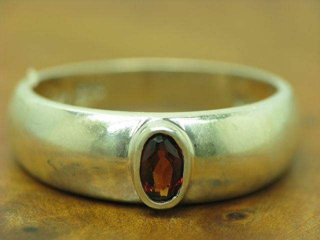 925 STERLING silver RING MIT GRANAT BESATZ   ECHTsilver   2,5g   RG 54,5