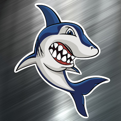 1 ONE Scuba Shark Decal Sticker Car Boating Boat Fishing Rod Diving Beach NEW