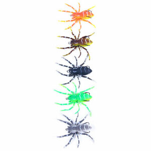 5PCS/Pack Phantom Spider 8cm/7g Topwater Bait Soft Rubber Fishing Lure Tackle