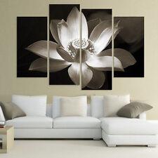 Modern Leinwandbild Bilder Abstrakt Blume Kunst Druck WANDBILD Gemälde Dekor