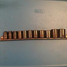 GREAT! Snap On 1/2 drive shallow 3/8 to 1'' sae 11pc socket set impact