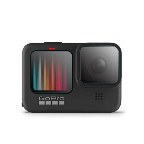 Se adapta a GoPro Hero 9 H9 LCD pantalla de vidrio templado y protector de lente