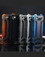 NEW Waterproof Shockproof Aluminum Gorilla Glass Metal Case Cover iPhone 7 BLACK
