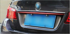 Stainless Rear Door Trunk Lid Cover Trim 1pcs For BMW 5 Series F10 2011-2015