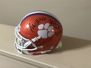 K-Von-Wallace-Autographed-Clemson-Tigers-Football-Mini-Helmet-Coa-Signed