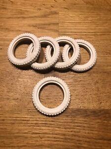 5-Pneus-blanc-pour-voiture-Meccano-Constructor-Car-N2-Tire-Tyre