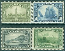 CANADA : 1928-9. Unitrade #155-6, 158-9. All are Fresh & VF, Mint OGH. Cat $905.